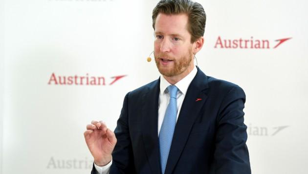 """AUA-CEO Alexis von Hoensbroech hat auf Bitten des Finanzministers die Bonuszahlungen """"freiwillig zurückgelegt""""."""