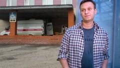In diesem Spital im sibirischen Omsk ist Nawalny gerade in Behandlung. (Bild: AP, AFP, Krone KREATIV)
