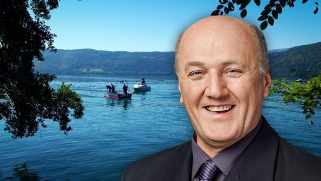 Im Millstätter See wurde nach einem vermissten Taucher gesucht. Später stellte sich heraus, dass es sich um Gemeinderat Herbert Hartlieb handelt.