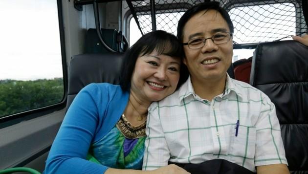 Phan Thi Kim Phúc mit ihrem Ehemann Toan Huy Bui