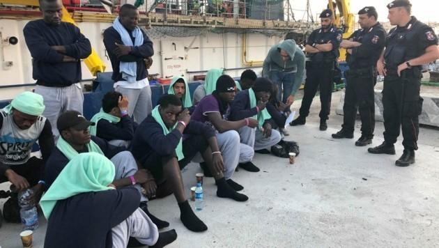 Migranten auf Lampedusa