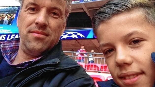 Herbert Gager mit Sohn Manuel beim Finale 2013