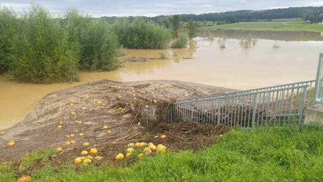 Schon im letzten Jahr sorgten Überflutungen nach Unwettern in Grieselstein (Bezirk Jennersdorf) für schwere Schäden. (Bild: APA/BFKDO-JE.AT)