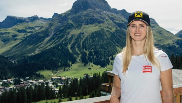 Die Berge ihrer Lecher Heimat sind für Nina Ortlieb ein beliebter Rückzugsort. Hier kann sie sehr viel Energie tanken.