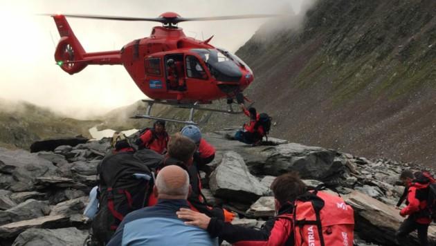 Es war großes Glück, dass sich die Nebelbank kurz lichtete und der Hubschrauber fliegen konnte.