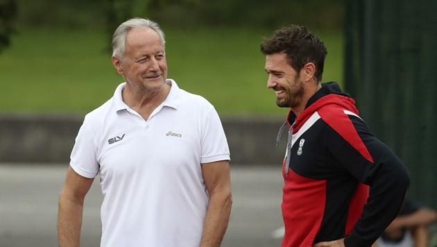Hatte seine Freude: Union-Obmann Ernst Grössinger, zugleich auch Trainer von Matthias Kaserer.