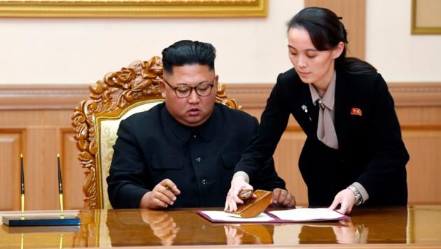 Kim Yo Jong hilft ihrem Bruder, dem nordkoreanischen Machthaber Kim Jong Un.