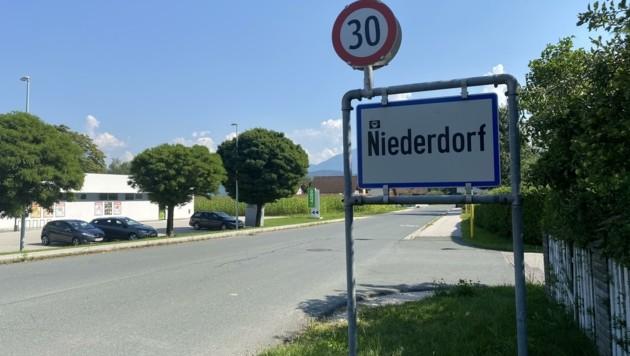 Die Ortschaft Niederdorf liegt direkt an der Gemeindegrenze von Klagenfurt und Ebenthal. (Bild: Elisabeth Nachbar)