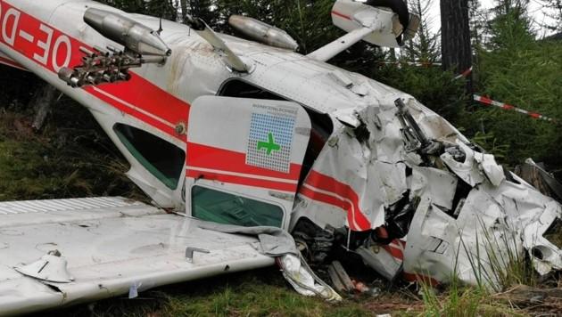 Am Gaberl stürzte die Cessna 182 am vergangenen Samstag ab, die beiden Piloten überlebten schwerst verletzt.