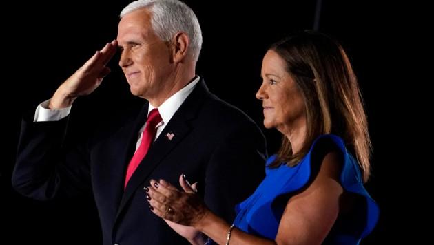 Der amtierende Vizepräsident Mike Pence und seine Frau Karen