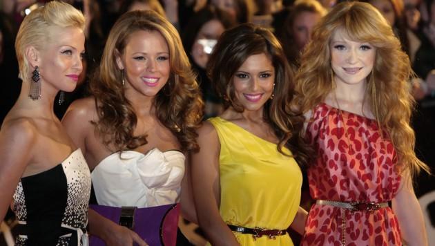 Sarah Harding (links außen) mit ihren Kolleginnen von Girls Aloud