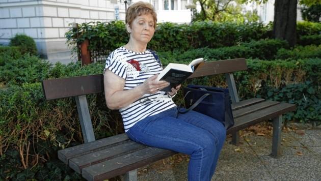 Beim Lesen kann Elisabeth Messner gut entspannen.