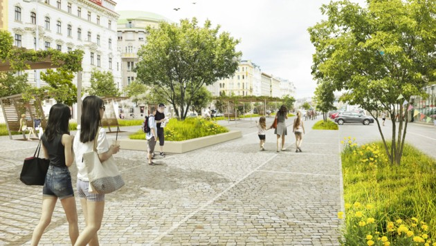Die große Asphaltfläche sei derzeit ein Hitzepol inmitten der Stadt - ein groß angelegtes Bepflanzungskonzept der Grünen könnte dies ändern.
