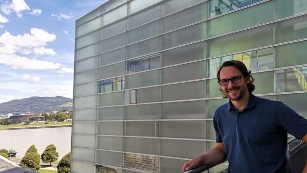 Markus Jandl, neuer kaufmännischer Geschäftsführer vor dem AEC