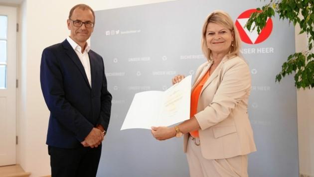 Kommissionschef Wolfgang Muchitsch und Klaudia Tanner