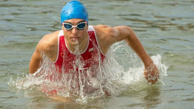 Am Wochenende taucht der Bregenzer Leon Pauger wieder im internationalen Triathlon-Business auf. (Bild: Maurice Shourot)