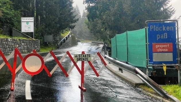 Die Plöckenstraße ist gesperrt.