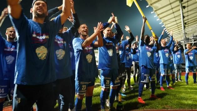 Kann Hartberg nach den tollen Erfolgen in der Liga am 17. September auch in der Europa-League-Quali jubeln? (Bild: Pail Sepp)