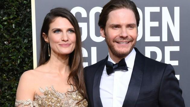 Daniel Brühl mit Ehefrau Felicitas (Bild: AFP)