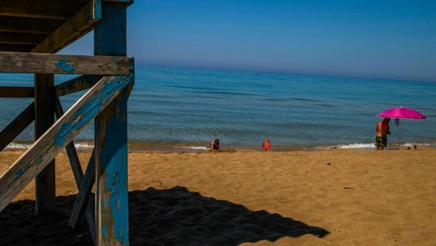 Ein Strand von Korfu (Bild: AFP (Symbolbild))