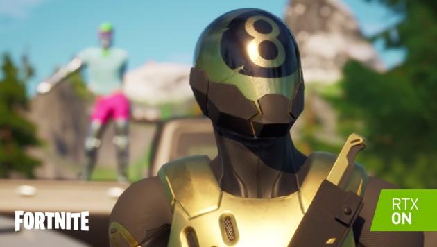 """Mit Raytracing-Technologie glänzt """"Fortnite"""" mit realistischeren Lichteffekten, Schatten und Reflexionen."""