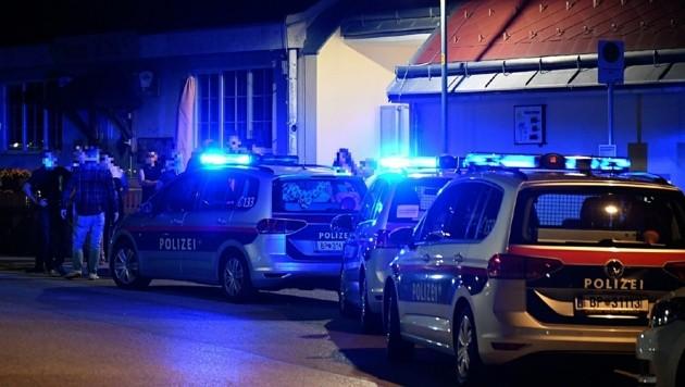 Sieben Polizeistreifen waren vor Ort.
