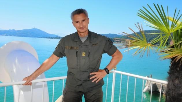 Stefan Lekas ist stellvertretender Militärkommandant. Auf der Landesverteidigungsakademie absolvierte er auch zwei Masterstudien. (Bild: Kamerawerk/Evelyn Hronek )