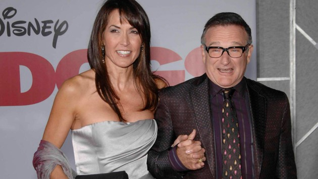 Robin Williams mit Susan Schneider (Bild: www.PPS.at)