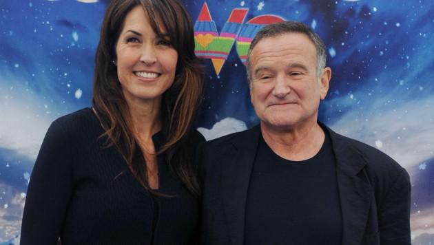 Robin Williams mit Ehefrau Susan Schneider Williams (Bild: www.photopress.at)