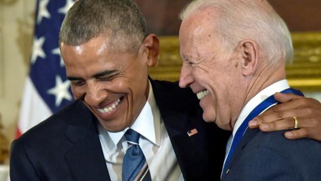 Rekord-Spendensammler: Obama und Biden (Bild: ASSOCIATED PRESS)