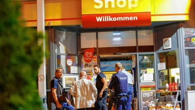 Polizei war schnell am Tatort (Bild: Markus Tschepp)