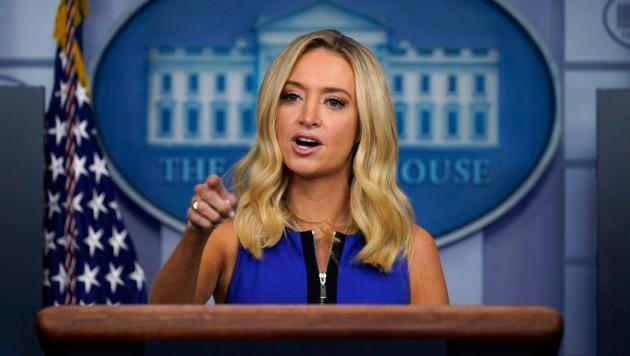 Trumps Sprecherin Kayleigh McEnany (Bild: AP)