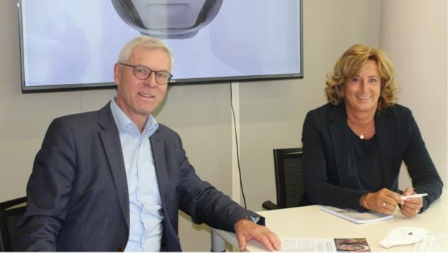 Johann Harer (Humantechnologiecluster) und Christa Zengerer (Autocluster Styria)