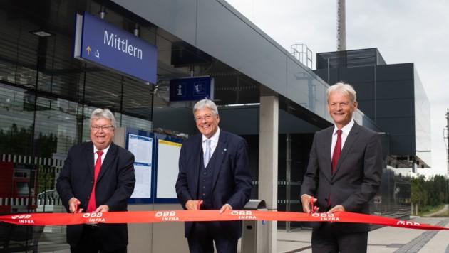 Eröffnung Bahnhof Mittlern mit Landeshauptmann Peter Kaiser, Bürgermeister Gottfried Wedenig und ÖBB-Infrastruktur AG Vorstand DI Franz Bauer