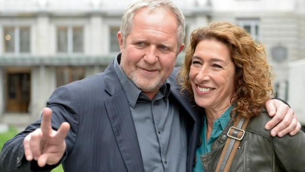 """Tatort""-Duo Harald Krassnitzer und Adele Neuhauser"