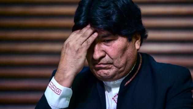Boliviens Ex-Präsident Evo Morales wurde wegen Verbrechen gegen die Menschlichkeit angezeigt. (Bild: AFP)
