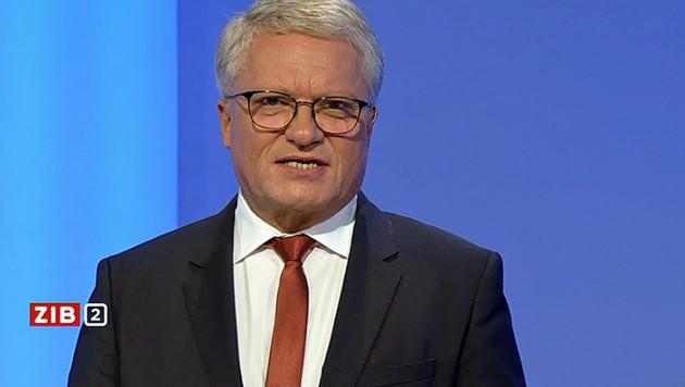 """Der Linzer Bürgermeister Klaus Luger in der """"ZiB 2"""" (Bild: ORF)"""