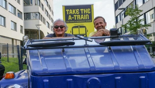 Die Veranstalter Andreas Neumayer und Markus Rauchmann. (Bild: Tschepp Markus)