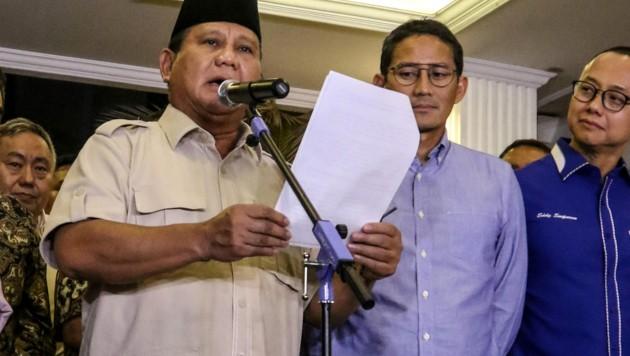 Der indonesische Verteidigungsminister Prabowo Subianto (Bild: AFP)