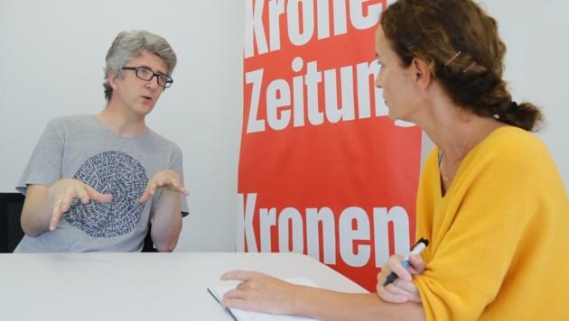 """Elternvertreter Christoph Drexler im """"Krone""""-Gespräch (Bild: Birbaumer Christof)"""