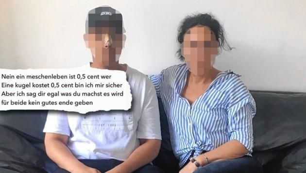 Amir W. mit seiner Mutter Sylvia (43), einer bekannten Unternehmerin (Bild: Martina Prewein)