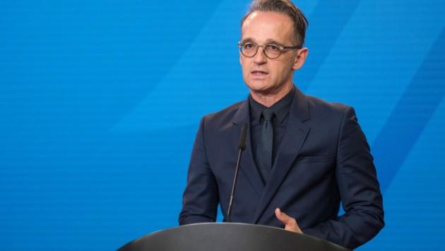 Der deutsche Außenminister Heiko Maas weist die Vorwürfe aus Russland im Fall Nawalny zurück. (Bild: AFP)
