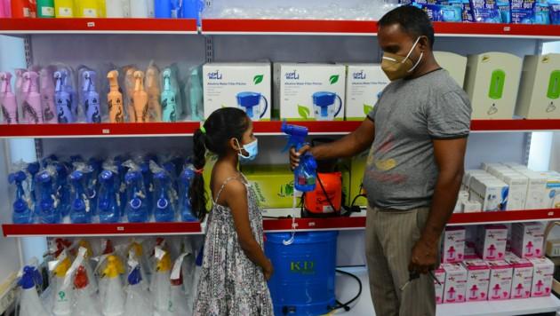 Erst vor zwei Wochen registrierte Indien über drei Millionen Corona-Fälle. (Bild: AFP)