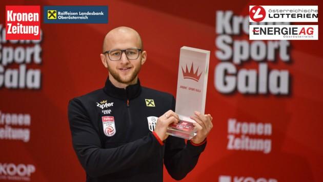 Krone Sportgala 2018, LASK-Kapitän Gernot Trauner (Bild: Markus Wenzel, krone.at-Grafik)