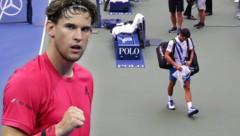 Nach dem Skandal-Aus von Novak Djokovic (re.) ist Dominic Thiem nun der Top-Favorit. (Bild: APA/Getty Images via AFP/GETTY IMAGES/MATTHEW STOCKMAN, APA/Getty Images via AFP/GETTY IMAGES/AL BELLO)