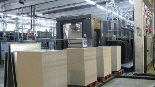 Eine Druckmaschine der Mayr-Melnhof Karton AG