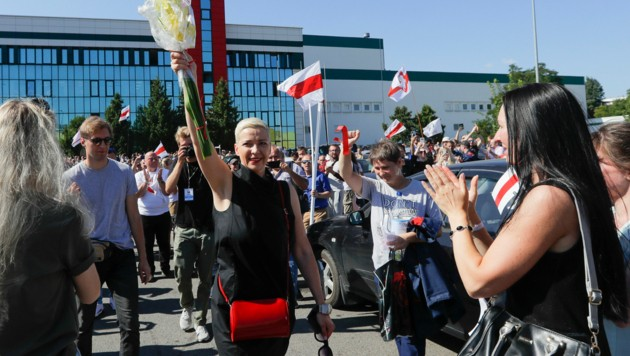 Besonders bei den enormen Protesten der Frauenbewegung nahm Kolesnikowa bislang eine entscheidende Rolle ein.