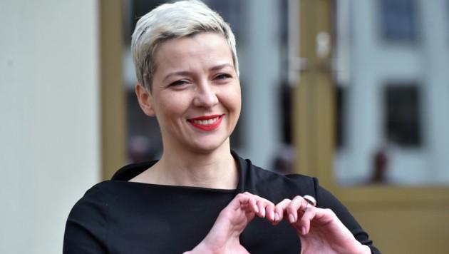 Die weißrussische Oppositionspolitikerin Maria Kolesnikowa (Bild: AFP)