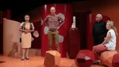 V. li.: Urike Arp (Diana), Olaf Salzer (Götz), Antony Connor (Arnold) und Susanne Wende (Kathrin) (Bild: Jan Friese)