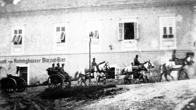 Abzug der jugoslawischen Truppen aus dem Lavanttal. (Bild: Gemeindearchiv St. Paul)